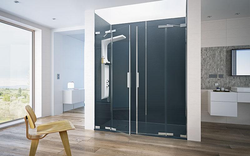 Designstarke Duschgestaltung